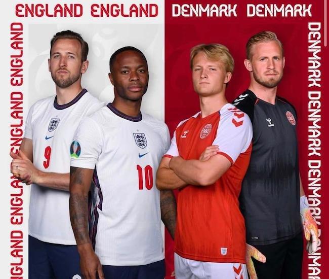 فرم پیش بینی دیدار انگلیس و دانمارک نیمه نهایی جام ملت های اروپا یورو